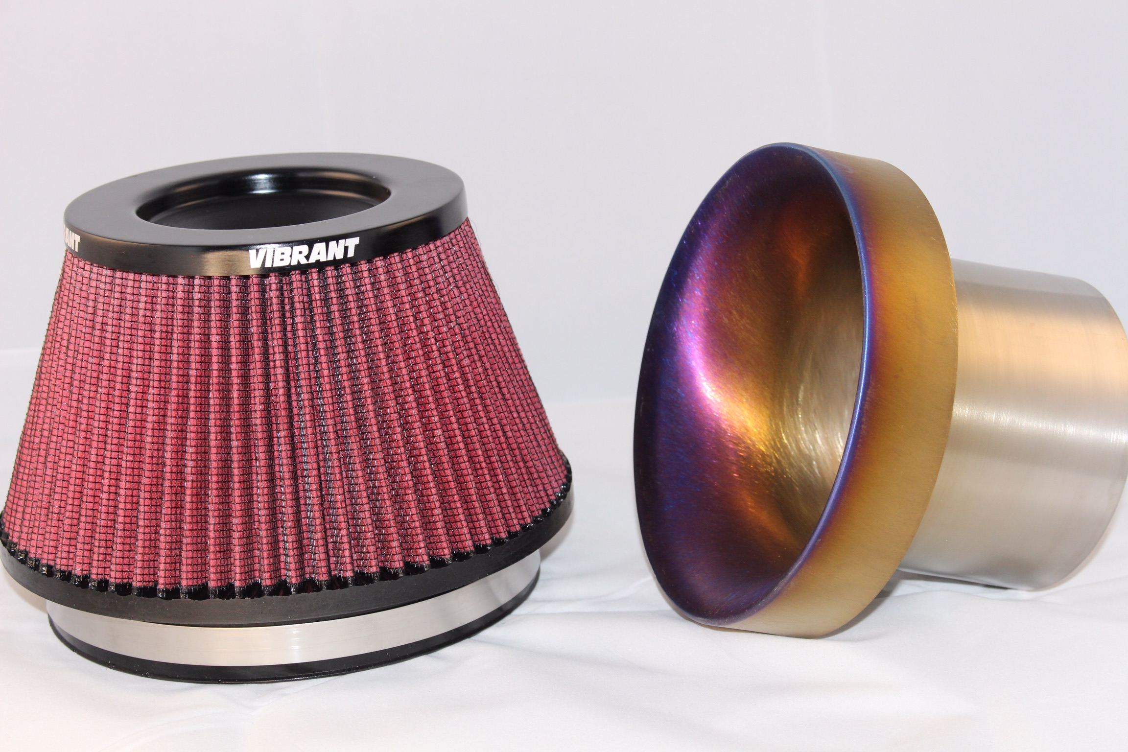 "4"" Outlet Titanium Velocity Stack For Use With Vibrant Performance Air Filter"